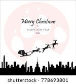 merry christmas holiday vector. ... | Shutterstock .eps vector #778693801