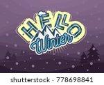 winter typographic card design... | Shutterstock .eps vector #778698841