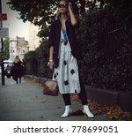 london  18 september 2017 woman ... | Shutterstock . vector #778699051