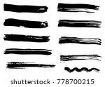 grunge vector dry brush strokes. | Shutterstock .eps vector #778700215