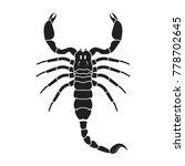 Scorpion Icon. Vector Realisti...