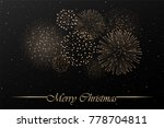 firework show on black night... | Shutterstock .eps vector #778704811