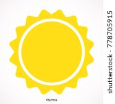 sun icon isolated background | Shutterstock .eps vector #778705915