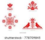 slavic red and belarusian... | Shutterstock . vector #778709845