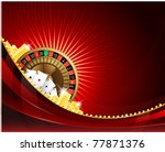 gambling background with casino ... | Shutterstock .eps vector #77871376