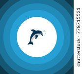 isolated dolphin icon flat.... | Shutterstock .eps vector #778715521