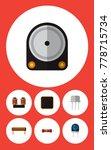 icon flat appliance set of...   Shutterstock .eps vector #778715734