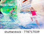 two young girls playing inside... | Shutterstock . vector #778717039