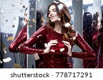 beautiful sexy woman wear lux... | Shutterstock . vector #778717291