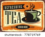 refreshing tea served here... | Shutterstock .eps vector #778719769
