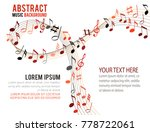 colorfull music notes on a... | Shutterstock .eps vector #778722061