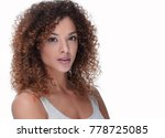 young woman with wavy hair and... | Shutterstock . vector #778725085