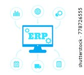 erp system icons | Shutterstock .eps vector #778726555
