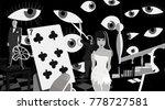 dali dream sequence art cartoon ...   Shutterstock .eps vector #778727581