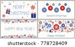 set of decorative winter cards  ...   Shutterstock .eps vector #778728409