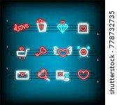 lettering  alarm  sale neon...   Shutterstock .eps vector #778732735