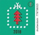 hny 2018 logo lettering over... | Shutterstock .eps vector #778738315