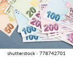 turkish banknotes  turkish lira ... | Shutterstock . vector #778742701