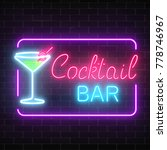 neon cocktail bar and cafe... | Shutterstock .eps vector #778746967