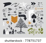 set of various typographic... | Shutterstock .eps vector #778751737