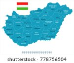 hungary map and flag   high...   Shutterstock .eps vector #778756504