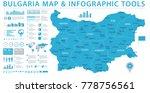 bulgaria map   detailed info... | Shutterstock .eps vector #778756561