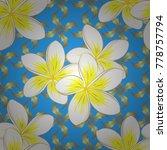 floral vintage seamless pattern ... | Shutterstock .eps vector #778757794