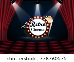 movie theater with row of red... | Shutterstock .eps vector #778760575