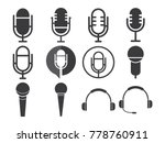 microphone icon design vector... | Shutterstock .eps vector #778760911