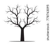 black shape of tree vector... | Shutterstock .eps vector #778763095