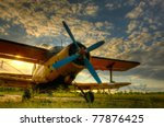 Hdr Foto Of An Old Airplane On...