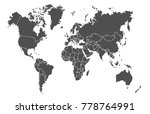 world map vector | Shutterstock .eps vector #778764991