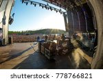 madrid   jun 23  the crowd in a ... | Shutterstock . vector #778766821