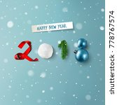 new year 2018 vector card... | Shutterstock .eps vector #778767574