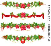 christmas garland with... | Shutterstock .eps vector #778769131