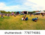 madrid   sep 10  the crowd in a ... | Shutterstock . vector #778774081