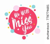 farewell party template. we... | Shutterstock .eps vector #778774681