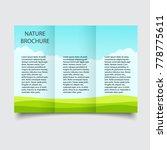 nature ecological brochure... | Shutterstock .eps vector #778775611