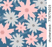 floral seamless pattern painted ... | Shutterstock .eps vector #778776025