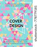 minimal cover design.... | Shutterstock .eps vector #778779181