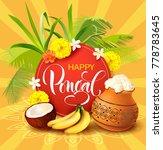 background for indian harvest... | Shutterstock .eps vector #778783645