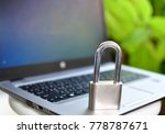 cyber safety concept  locked... | Shutterstock . vector #778787671