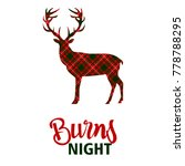 burns night supper card. deer... | Shutterstock .eps vector #778788295