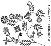 embroidery simplified floral... | Shutterstock .eps vector #778799041