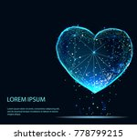 abstract heart icon from lines... | Shutterstock .eps vector #778799215