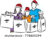 people giving presents vector... | Shutterstock .eps vector #778805299