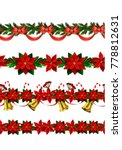 vector christmas border | Shutterstock .eps vector #778812631