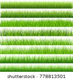 collection green grass there... | Shutterstock .eps vector #778813501