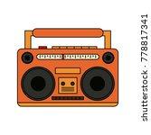 old radio stereo | Shutterstock .eps vector #778817341