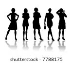 businesswomen silhouettes in... | Shutterstock . vector #7788175